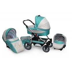 Baby pram AmberLine Active 3w1 k2 - mint