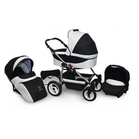 Baby pram AmberLine Active 3w1 k5 - white