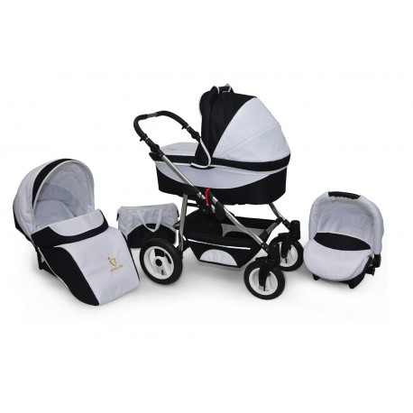 Baby pram AmberLine Active 3w1 k4 - black