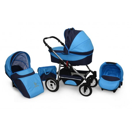 Baby pram AmberLine Active 3w1 k1 - navy