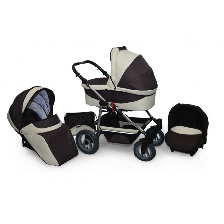 Baby pram AmberLine Active 3w1 k9 - cream