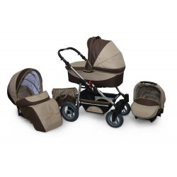 Baby pram AmberLine Active 3w1 k7 - brown