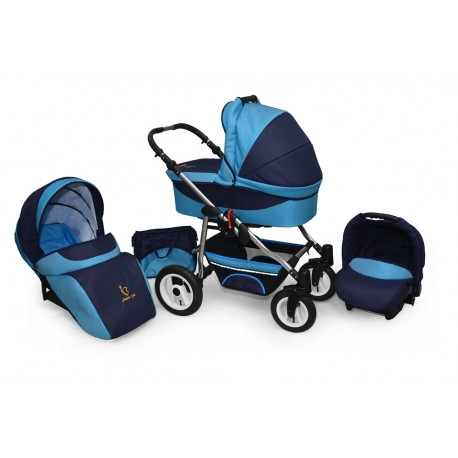 Baby pram AmberLine Active 3w1 k6 - blue