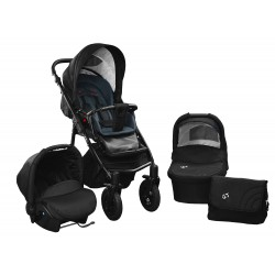 Baby pram SkyrLine GTr2 3w1 BLACK-RED EDITION k11 - graphite