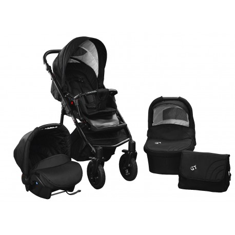 Baby pram SkyLine Gtr2 3w1 BLACK-RED EDITION k14 - black